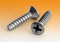 Ford Type 'B' Sheet Metal 410 Bright Hardened Stainless Steel Tapping Screws