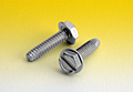Slotted Indented Hex Washer Thread Cutting Screws Type F